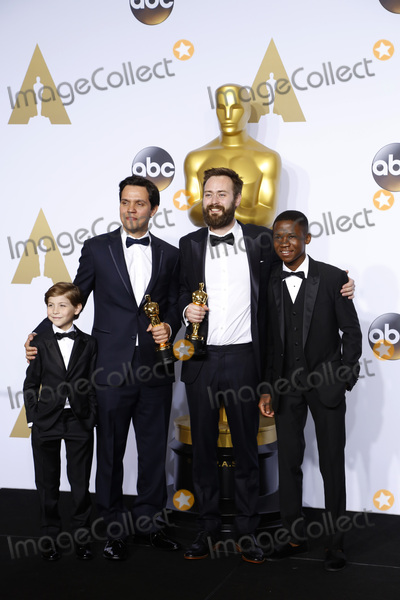 The 88, Jacob Tremblay, Abraham Attah, Benjamin Cleary Photo - LOS ANGELES - FEB 28:  Jacob Tremblay, Shan Christopher Ogilvie, Benjamin Cleary Abraham Attah at the 88th Annual Academy Awards - Press Room at the Dolby Theater on February 28, 2016 in Los Angeles, CA