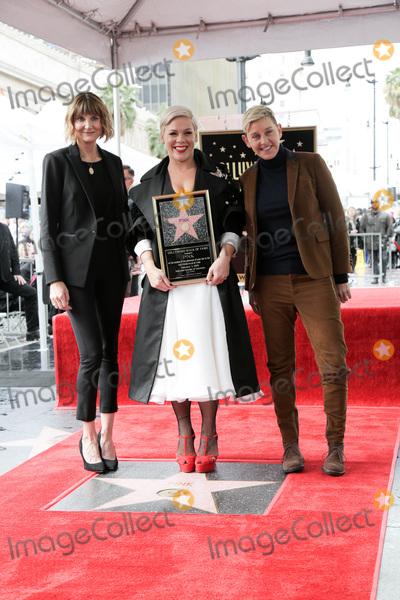 Ellen De Generes, Kerri Kenney, Kerri Kenney Silver, Kerri Kenney-Silver, Pink Photo - LOS ANGELES - FEB 5:  Kerri Kenney-Silver, Pink, Ellen DeGeneres at the Pink Star Ceremony on the Hollywood Walk of Fame on February 5, 2019 in Los Angeles, CA