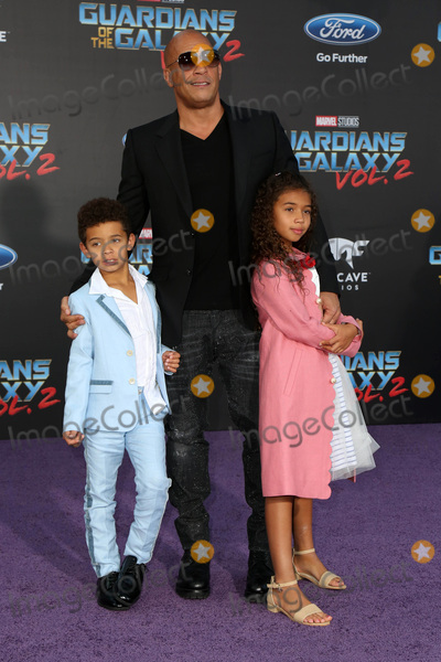 "Sinclair, Vin Diesel Photo - LOS ANGELES - APR 19:  Vincent Sinclair, Vin Diesel, Hania Riley Sinclair at the ""Guardians of the Galaxy Vol. 2"" Los Angeles Premiere at the Dolby Theater on April 19, 2017 in Los Angeles, CA"