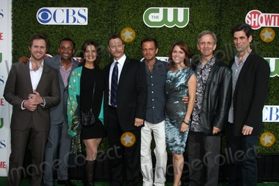 AJ Buckley, Gary Sinise, Hill Harper, Sela Ward, Eddie Cahill, Carmine Giovinazzo, Anna Belknap, Robert Joy Photo - LOS ANGELES - JUL 28:  CSI: NY Cast - Aj Buckley, Hill Harper, Sela Ward, Gary Sinise, Carmine Giovinazzo, Anna Belknap, Robert Joy & Eddie Cahill arrives at the 2010 CBS, The CW, Showtime Summer Press Tour Party  at The Tent Adjacent to Beverly Hilton Hotel on July28, 2010 in Beverly Hills, CA