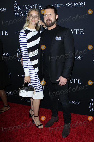 "AJ Buckley, Samuel Goldwyn Photo - LOS ANGELES - OCT 24:  Wife, AJ Buckley at the ""A Private War"" Premiere at the Samuel Goldwyn Theater on October 24, 2018 in Beverly Hills, CA"