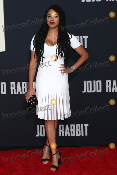 "JoJo, Tanisha Long Photo - LOS ANGELES - OCT 15:  Tanisha Long at the ""Jojo Rabbit"" Premiere at the American Legion Post 43 on October 15, 2019 in Los Angeles, CA"