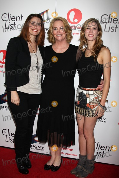 """Clementine Ford, Cybill Shepherd, Cybil Shepherd Photo - LOS ANGELES - APR 4:  Clementine Ford, Cybill Shepherd, Ariel Oppenheim arriving at the """"The Client List"""" Launch Party at Sunset Tower Hotel on April 4, 2012 in West Hollywood, CA"""