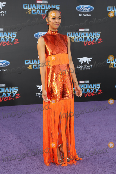 "Zoe Saldana Photo - LOS ANGELES - APR 19:  Zoe Saldana at the ""Guardians of the Galaxy Vol. 2"" Los Angeles Premiere at the Dolby Theater on April 19, 2017 in Los Angeles, CA"