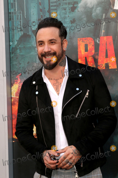 """Photo - LOS ANGELES - APR 4:  AJ McLean at the """"Rampage"""" Premiere at Microsoft Theater on April 4, 2018 in Los Angeles, CA"""