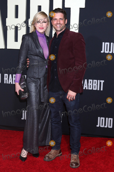 "Adrienne Frantz, JoJo, Scott Bailey Photo - LOS ANGELES - OCT 15:  Adrienne Frantz Bailey, Scott Bailey at the ""Jojo Rabbit"" Premiere at the American Legion Post 43 on October 15, 2019 in Los Angeles, CA"