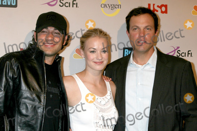 Adam Baldwin, Yvonne Strahovski, Zach Levi Photo - Zach Levi & Yvonne Strahovski & Adam Baldwin arriving at the NBC TCA Party at the Beverly Hilton Hotel  in Beverly Hills, CA on