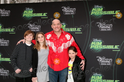"""David Koechner Photo - LOS ANGELES - FEB 12:  David Koechner, children at the """"Kim Possible"""" Premiere Screening at the TV Academy on February 12, 2019 in Los Angeles, CA"""