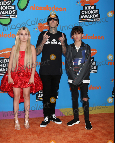 Alabama, Travis Barker, Alabama Barker Photo - LOS ANGELES - MAR 24:  Alabama Barker, Travis Barker, Landon Barker at the 2018 Kid's Choice Awards at Forum on March 24, 2018 in Inglewood, CA