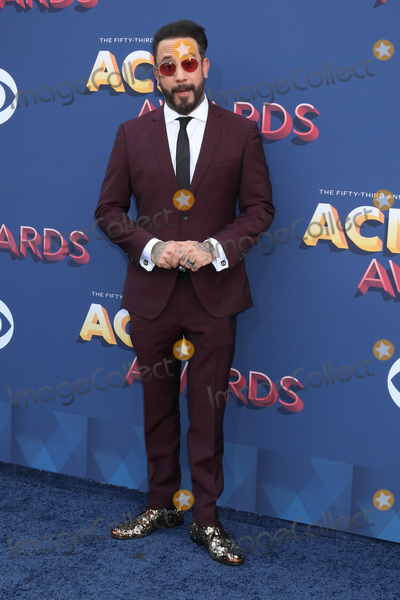 Photo - LAS VEGAS - APR 15:  AJ McLean at the Academy of Country Music Awards 2018 at MGM Grand Garden Arena on April 15, 2018 in Las Vegas, NV