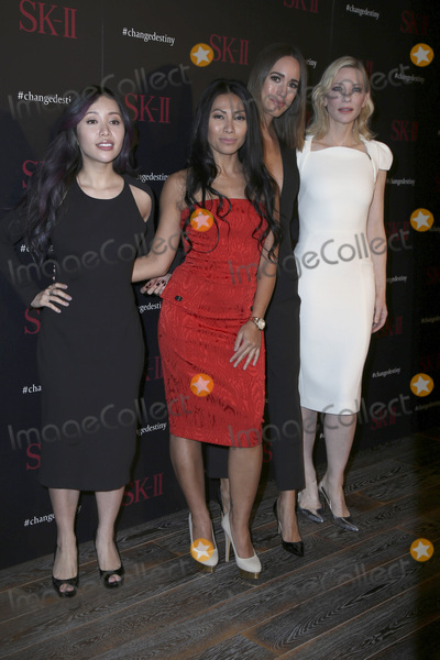 Anggun, Cate Blanchett, Louise Roe, CATE BLANCHETTE, Michelle Phan Photo - LOS ANGELES - FEB 26:  Michelle Phan, Anggun, Louise Roe, Cate Blanchett at the SK-II #ChangeDestiny Forum at the Andaz Hotel on February 26, 2016 in Los Angeles, CA