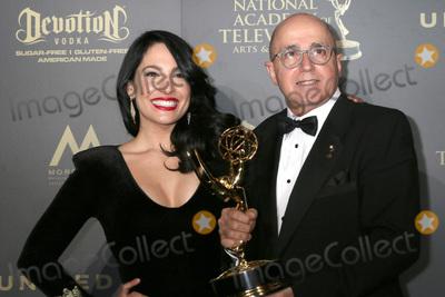 (+44), +44, Alejandra Oraa Photo - LOS ANGELES - APR 30:  Alejandra Oraa, Eduardo Suarez, Outstanding Entertainment Program in Spanish, Destinos in the 44th Daytime Emmy Awards Press Room at the Pasadena Civic Auditorium on April 30, 2017 in Pasadena, CA