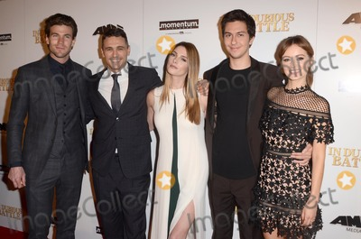 """Ahna O'Reilly, Ashley Greene, James Franco, Nat Wolff, Austin Stowell, ASHLEY GREEN, Ahna O?Reilly Photo - LOS ANGELES - FEB 15:  Austin Stowell, James Franco, Ashley Greene, Nat Wolff, Ahna O'Reilly at the """"In Dubious Battle"""" Los Angeles Premiere  at the ArcLight Theater on February 15, 2017 in Los Angeles, CA"""