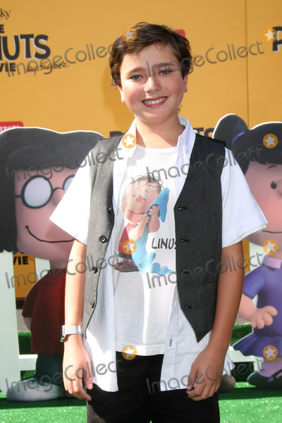 """Alex Garfin Photo - LOS ANGELES - NOV 1:  Alex Garfin at the """"The Peanuts Movie"""" Los Angeles Premiere at the Village Theater on November 1, 2015 in Westwood, CA"""