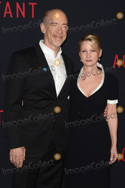 """J K Simmons, J. K. Simmons, J.K. Simmons, J.K Simmons Photo - LOS ANGELES - OCT 10:  J K Simmons, Wife at the """"The Accountant"""" World Premiere at TCL Chinese Theater IMAX on October 10, 2016 in Los Angeles, CA"""