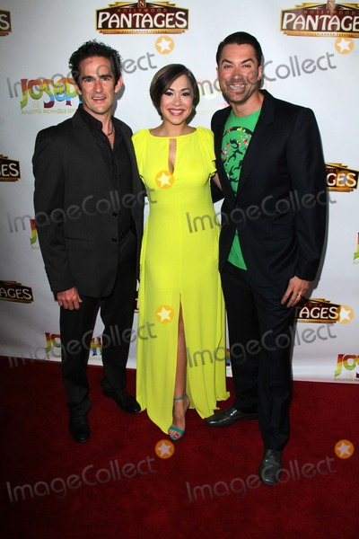 """Ace Young, Diana De Garmo, Joseph Corré Photo - LOS ANGELES - JUN 4:  Andy Blankenbueler, Diana DeGarmo, Ace Young at the """"Joseph And The Amazing Technicolor Dreamcoat"""" Opening at Pantages Theater on June 4, 2014 in Los Angeles, CA"""