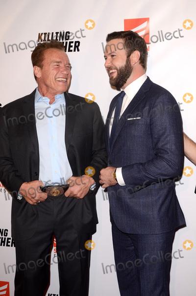 "Taran Killam, The Kills Photo - LOS ANGELES - OCT 14:  Armold Schwarzenegger, Taran Killam at the ""Killing Gunther"" Los Angeles Special Screening at the TCL Chinese 6 Theaters on October 14, 2017 in Los Angeles, CA"