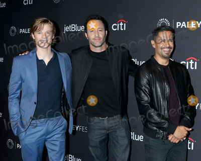 """Alex O'Loughlin, Jay Hernandez, Lucas Till Photo - LOS ANGELES - MAR 23:  Lucas Till, Alex O'Loughlin, Jay Hernandez at the PaleyFest - """"Hawaii Five-0,"""" """"MacGyver,"""" and """"Magnum P.I."""" Event at the Dolby Theater on March 23, 2019 in Los Angeles, CA"""