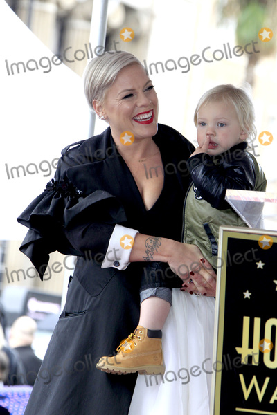 Pink Photo - LOS ANGELES - FEB 5:  Pink, Jameson Hart at the Pink Star Ceremony on the Hollywood Walk of Fame on February 5, 2019 in Los Angeles, CA