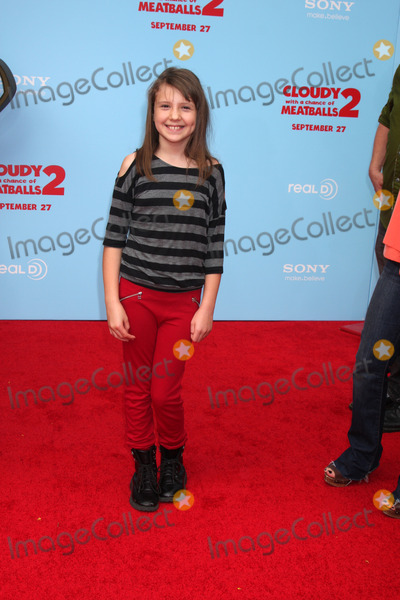 "Photo - LOS ANGELES - SEP 21:  Alina Foley at the ""Cloudy With A Chance of Meatballs 2"" Los Angeles Premiere at Village Theater on September 21, 2013 in Westwood, CA"