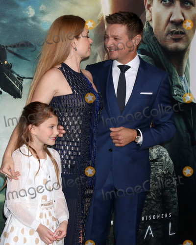 "Amy Adams, Jeremy Renner, Abigail Pniowsky Photo - LOS ANGELES - NOV 6:  Abigail Pniowsky, Amy Adams, Jeremy Renner at the ""Arrival"" Premiere at Village Theater on November 6, 2016 in Westwood, CA"