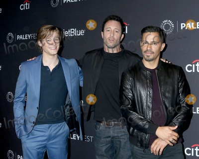 "Alex O'Loughlin, Jay Hernandez, Lucas Till Photo - LOS ANGELES - MAR 23:  Lucas Till, Alex O'Loughlin, Jay Hernandez at the PaleyFest - ""Hawaii Five-0,"" ""MacGyver,"" and ""Magnum P.I."" Event at the Dolby Theater on March 23, 2019 in Los Angeles, CA"