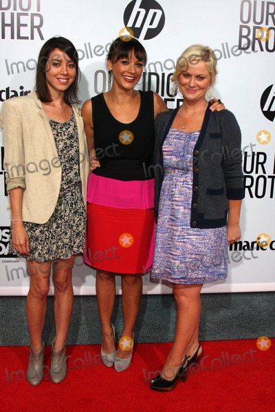 """Amy Poehler, Aubrey Plaza, Rashida Jones Photo - LOS ANGELES - AUG 16:   Aubrey Plaza, Rashida Jones, Amy Poehler arriving at the """"Our Idiot Brother"""" Premiere at Cinerama Dome ArcLight Theaters on August 16, 2011 in Los Angeles, CA"""