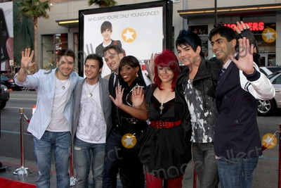 Danny Gokey, Kris Allen, Matt Giraud, Lil Rounds, Adam Lambert, Allison Iraheta, Anoop Desai Photo - Danny Gokey, Kris Allen, Matt Giraud, Lil Rounds, Allison Iraheta, Adam Lambert, and Anoop Desai (Amerian Idol Top 7 in 2009)  arriving at the 17 Again Premiere at Grauman's Chinese Theater in Los Angeles, CA on April 14, 2009