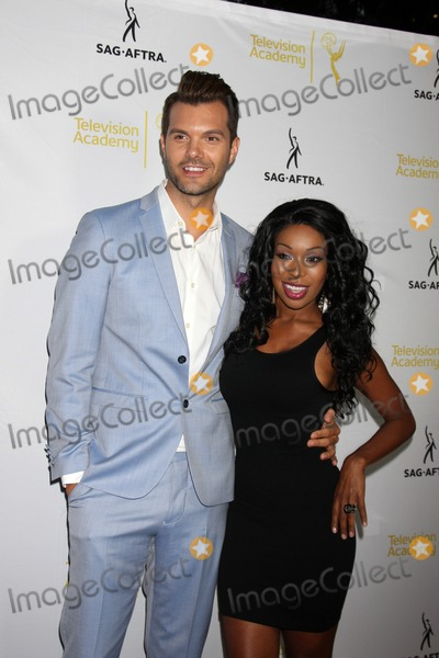 Porscha, Porscha Coleman, AJ Gibson, A.J. Gibson Photo - LOS ANGELES - AUG 12:  A.J. Gibson, Porscha Coleman at the Dynamic & Diverse:  A 66th Emmy Awards Celebration of Diversity Event at Television Academy on August 12, 2014 in North Hollywood, CA