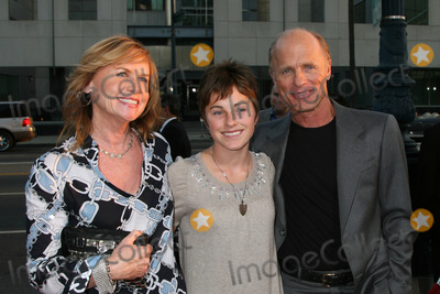 "Amy Madigan, Ed Harris Photo - Amy Madigan, Lily & Ed Harris  arriving at the premiere of ""Appaloosa"" in Beverly Hills,CA on