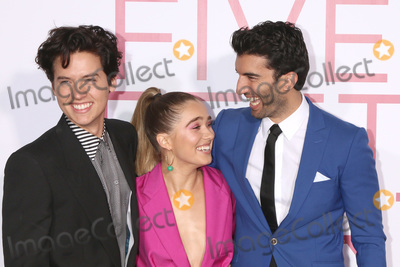 """Cole Sprouse, Justin Baldoni Photo - LOS ANGELES - MAR 7:  Cole Sprouse, Haley Lu Richardson, Justin Baldoni at the """"Five Feet Apart"""" Premiere at the Bruin Theater on March 7, 2019 in Westwood, CA"""