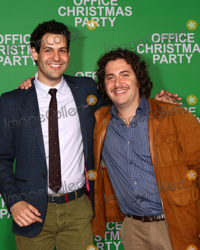 """Oliver Cooper, Andrew Leeds Photo - LOS ANGELES - DEC 7:  Andrew Leeds, Oliver Cooper at the """"Office Christmas Party"""" Premiere at Village Theater on December 7, 2016 in Westwood, CA"""