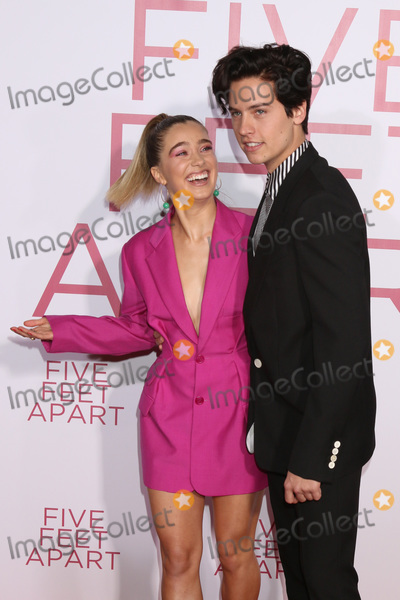 """Cole Sprouse Photo - LOS ANGELES - MAR 7:  Haley Lu Richardson, Cole Sprouse at the """"Five Feet Apart"""" Premiere at the Bruin Theater on March 7, 2019 in Westwood, CA"""