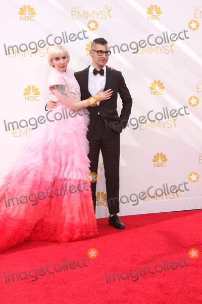 Jack Antonoff, Lena Dunham, Jackée Photo - LOS ANGELES - AUG 25:  Lena Dunham, Jack Antonoff at the 2014 Primetime Emmy Awards - Arrivals at Nokia Theater at LA Live on August 25, 2014 in Los Angeles, CA