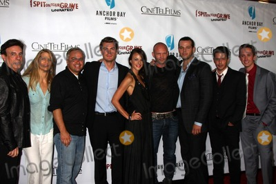 "Andrew Howard, Chad Lindberg, Daniel Franzese, Kevin Kasha, Lisa Hansen, Rodney Eastman, Sarah Butler, Jeff Branson Photo - LOS ANGELES - SEP 29:  Paul Hertzberg, Lisa Hansen, Kevin Kasha, Jeff Branson, Sarah Butler, Andrew Howard, Daniel Franzese, Rodney Eastman, Chad Lindberg arrives at the ""I Spit on Your Grave"" Premiere at Mann Chinese 6 Theaters - Hollywood & Highland on September 29, 2010 in Los Angeles, CA"