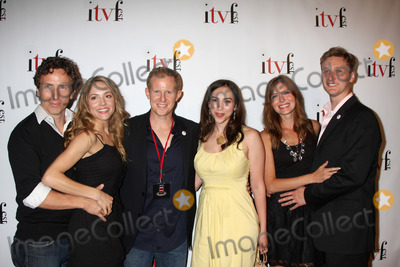 """Andrew Miller, Brooke Nevin, Eden Riegel, Aaron Staton, Michael Traynor, Michael Bublé, Michael Paré Photo - Brooke Nevin, Michael Traynor, Andrew Miller & Eden Riegel, ConnieStaton, Aaron Staton of """"Imaginary Bitches""""  arriving at the Independent Television Festival Opening Night Gala at Laemmle's Sunset 5 in West Hollywood, CA on July 30, 2009"""