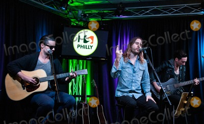 Jared Leto, Thirty Seconds to Mars, Tomo Milicevic Photo - BALA CYNWYD, PA - SEPTEMBER 29: (L to R) Tomo Milicevic, Jared Leto and Stephen Aiello of American Alternative Rock Band Thirty Seconds To Mars Perform at Radio 104.5's Performance Theatre on September 29, 2013 in Bala Cynwyd, Pennsylvania. (Photo by Paul J. Froggatt/FamousPix)