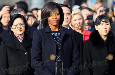 First Lady Michelle Obama, Mark Wilson, Michelle Obama, White House, The White Photo - WASHINGTON, DC - JANUARY 19: (AFP OUT) U.S. first lady Michelle Obama attends a State arrival ceremony on the South Lawn of the White House January 19, 2011 in Washington, DC. Obama and Hu are scheduled to meet in the Oval Office later in the day, hold a joint press conference and attend a State dinner.  Photo by  Mark WilsonPool/CNP-PHOTOlink.net