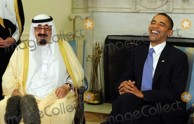 King Abdullah, Abdullah bin Abdul Aziz, Barack Obama, King Abdullah Bin Abdul Aziz, King Abdullah bin Abdul Aziz Al Saud, President Barack Obama, White House, The White Photo - United States President Barack Obama and King Abdullah bin Abdul Aziz al Saud of Saudi Arabia speak to the media after their meeting in the Oval Office of the White House in Washington on Tuesday, June 29, 2010.