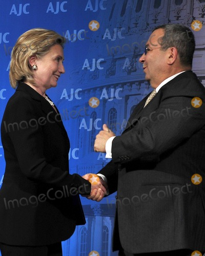 Ehud Barak, Hillary Rodham, Hillary Rodham Clinton Photo - United States Secretary of State Hillary Rodham Clinton, left, with Ehud Barak, Defense Minister of Israel,  prior to her giving remarks at the 2010 American Jewish Committee Annual Meeting in Washington, D.C. on Thursday, April 29, 2010. Photo by Ron Sachs-CNP-PHOTOlink.net
