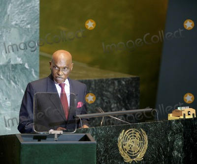 Abdoulaye Wade Photo - New York, NY, 9-24-2008United NationsSenegal President M. Abdoulaye Wadeaddresses the 63 UN General Assembly.Digital photo by Luiz Rampelotto-PHOTOlink.net