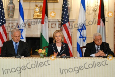 Benjamin Netanyahu, Hillary Clinton, Mahmoud Abbas, ABBA, The Used, The Negotiators Photo - Washington, DC 9/02/2010