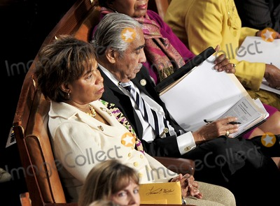Charlie Rangel Photo - RESTRICTED: NO NEW YORK OR NEW JERSEYNEWSPAPERS WITHIN A 75 MILE RADIUS OF NYC.Washington, DC 01/05/2011United States Representative Charlie Rangel (Democrat of New York), right, reads through a notebook as he waits to be sworn-in for another term in the U.S. House of Representatives. U.S. Representative Barbara Lee (Democrat of California), is seated at left. Photo by Ron Sachs/CNP-PHOTOlink.net