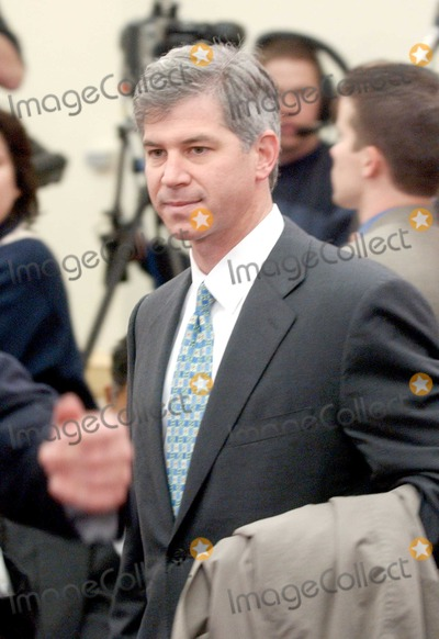 """Andrew S. Fastow, The Unit Photo - Washington, DC - February 7, 2002 -- Andrew S. Fastow, former Chief Financial Officer; Enron Corporation awaits the hearing of the United States House of Representatives Energy and Commerce Subcommittee on Oversight and Investigations on """"The Financial Collapse of the Enron Corporation"""".Photo by Ron Sachs-CNP-PHOTOlink.net"""
