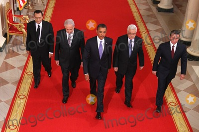 Abdullah II of Jordan, Barack Obama, Benjamin Netanyahu, King Abdullah, King Abdullah II of Jordan, Mahmoud Abbas, President Barack Obama, ABBA, Alex Wong, White House, The White Photo - RESTRICTED: NEW YORK/NEW JERSEY OUT