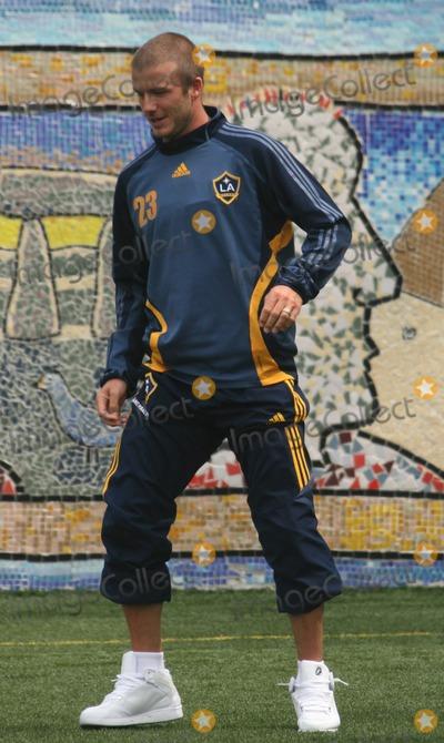 David Beckham, Jackée Photo - New York, New York 08-17-07David Beckham at a soccer clinic to launch a new field for Harlem Youth Soccer  on 138 St.Digital photo by Jack Jordan-PHOTOlink.net