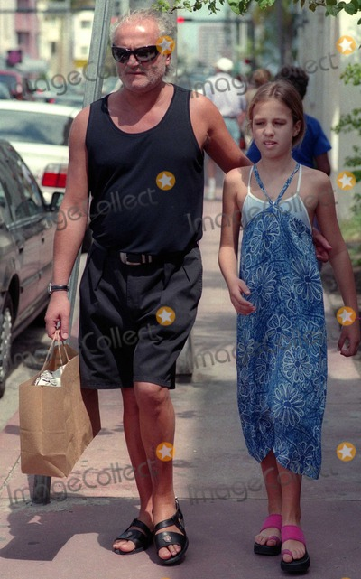 Allegra Beck, Beck, Gianni Versace Photo - Gianni Versace4419.JPGCelebrity Archaeology1997 FILE PHOTOMiami Beach, FLGianni Versace with niece Allegra Beck (11 years old at the time)Photo by Adam Scull-PHOTOlink.net