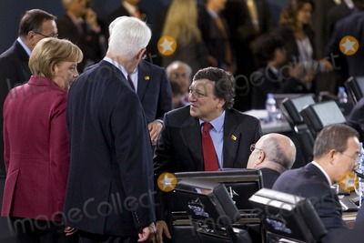 Alistair Darling, Angela Merkel, Jose Manuel Barroso Photo - Pittsburgh, PA - September 25, 2009 -- G-20 leaders, from left, Germany's Chancellor Angela Merkel, U.K. finance minister Alistair Darling, and European Commission President Jose Manuel Barroso gather during a plenary session on day two of the Group of 20 summit in Pittsburgh, Pennsylvania, U.S., on Friday, September 25, 2009. G-20 leaders are working on an accord to prevent a repeat of the worst global financial crisis since the Great Depression and ensure a sustained recovery. Photo By Andrew Harrer/Pool/-CNP-PHOTOlink.net