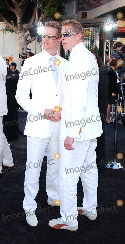 """Adrian Rayment, Neil Rayment Photo - Photo by: Lee Roth STAR MAX, Inc. - copyright 2003 ALL RIGHTS RESERVED Telephone/Fax: (212) 995-1196 5/7/03 Adrian Rayment and Neil Rayment  at the Los Angeles premiere of """"Matrix Reloaded"""". (Westwood, CA)"""