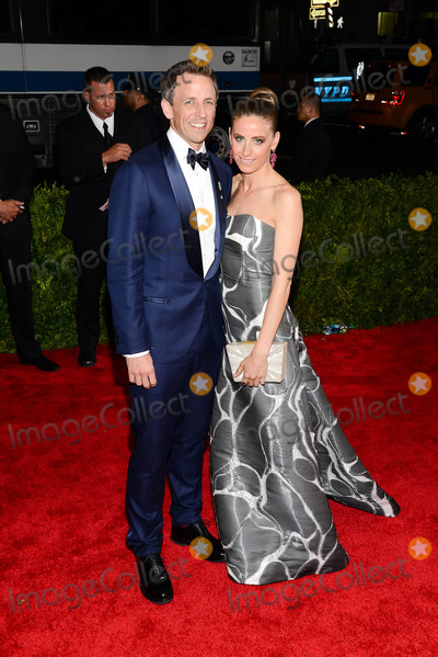 """ASH, Seth Meyer, Seth Meyers, Alexi Ashe Photo - Photo by: ESBP/starmaxinc.comSTAR MAX2015ALL RIGHTS RESERVEDTelephone/Fax: (212) 995-11965/4/15Seth Meyers and Alexi Ashe at the 2015 Costume Institute Benefit Gala - """"China: Through The Looking Glass"""".(Metropolitan Museum of Art, NYC)"""